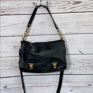 Vintage leather Coach Poppy crossbody bag
